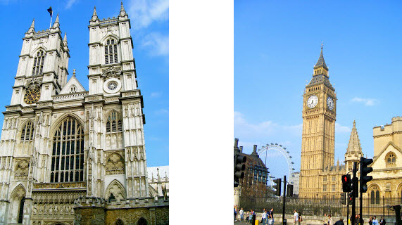 Westminster Abbey and Big Ben