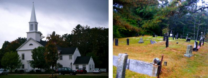 New England Church and Graveyard